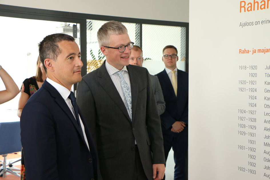 Visite du Ministre Darmanin en Estonie : Ministres Gérald Darmanin et Janek Mäggi (16/07/2018, photo : Ministère des Finances estonien) - JPEG